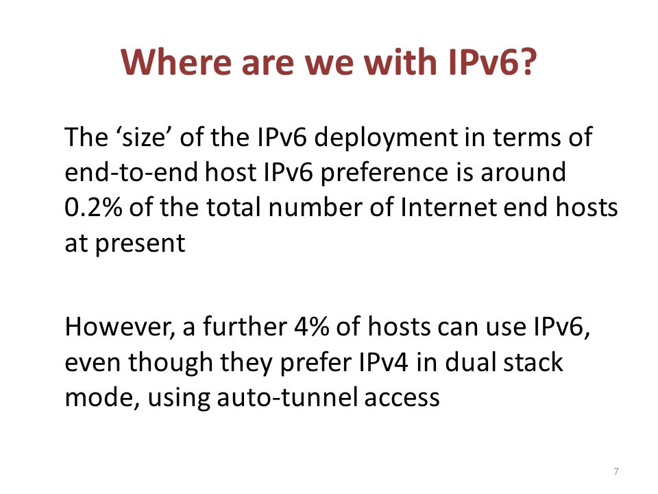 Why is there so much hidden IPv6 capability.