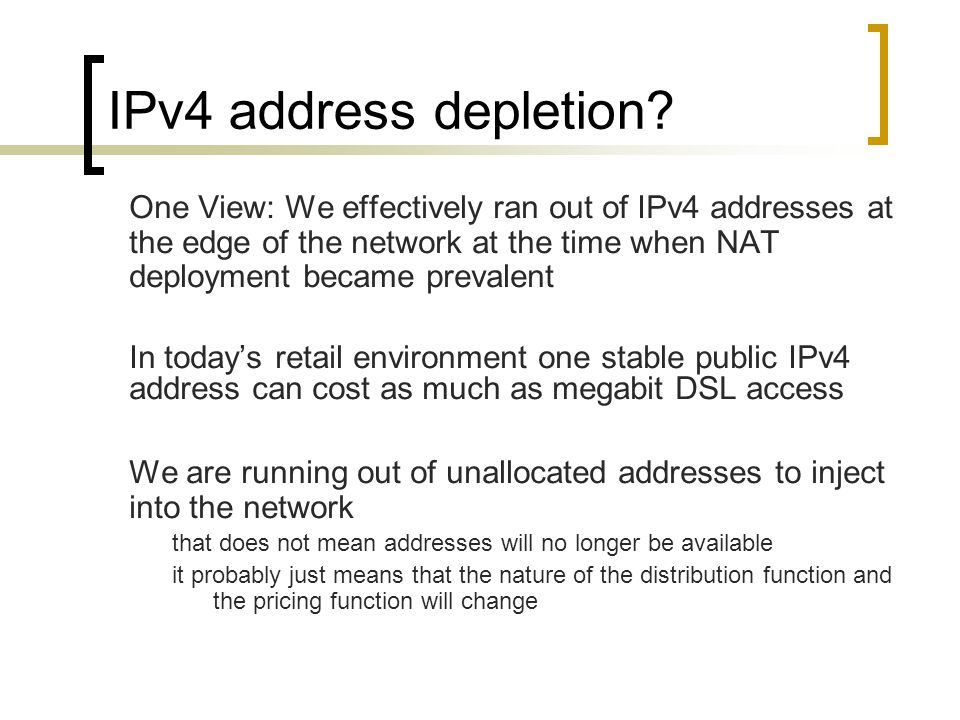 IPv4 address depletion.