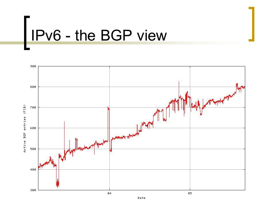 IPv6 - the BGP view