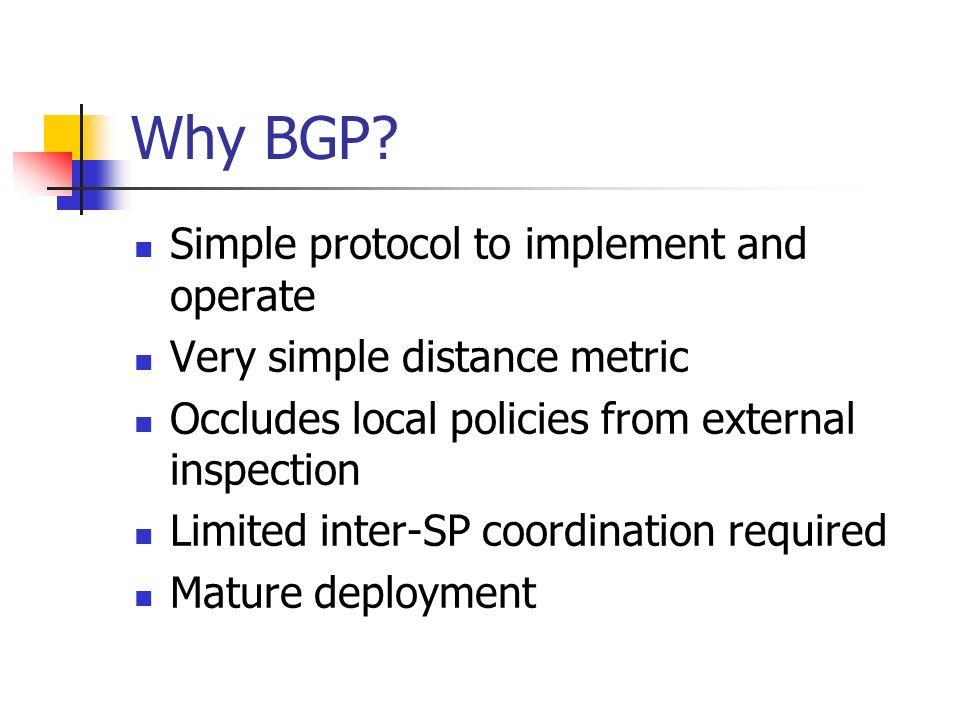 Why BGP.