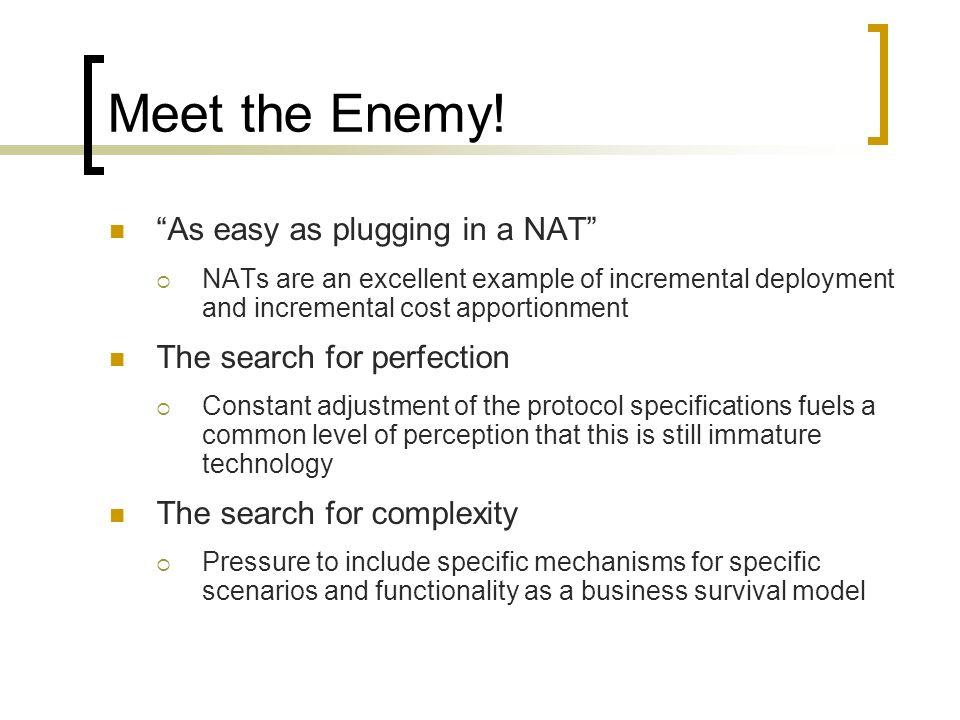 Meet the Enemy.