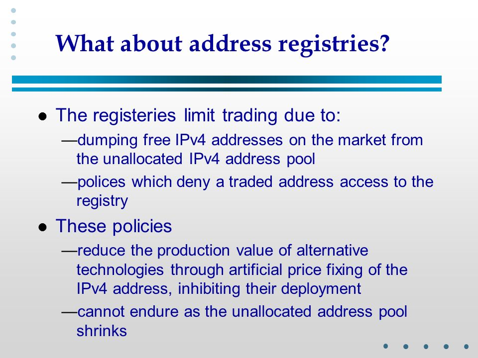 What about address registries.