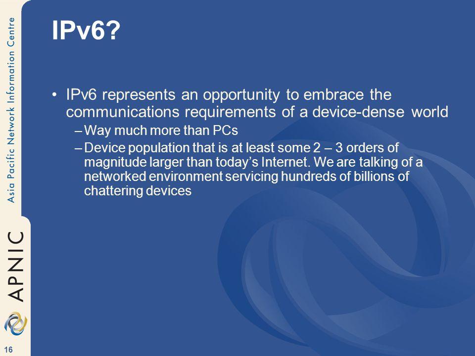 16 IPv6.