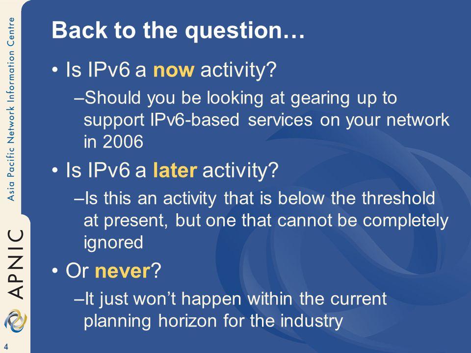 5 IPv6 Now.