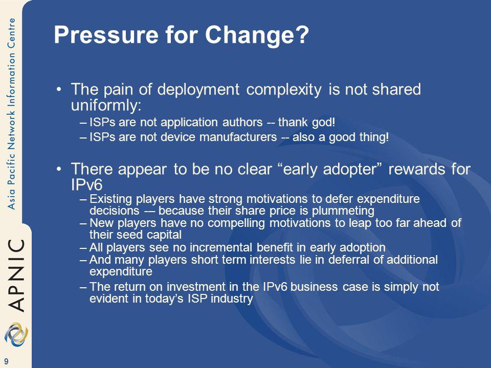 9 Pressure for Change.