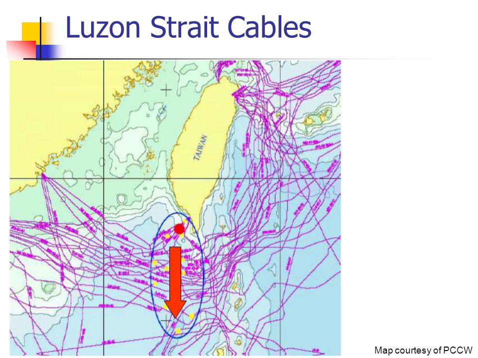Luzon Strait Cables Map courtesy of PCCW