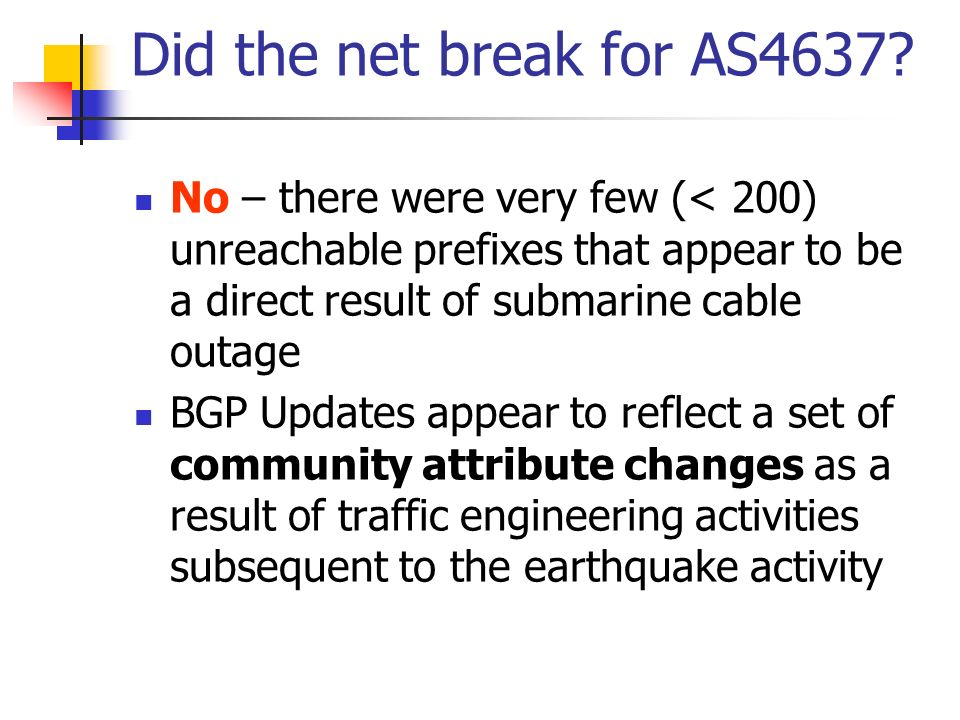 Did the net break for AS4637.