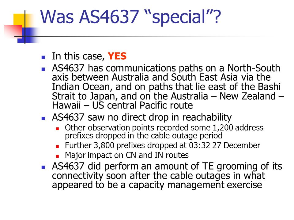 Was AS4637 special.