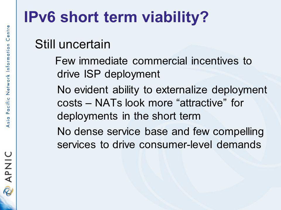 IPv6 short term viability.