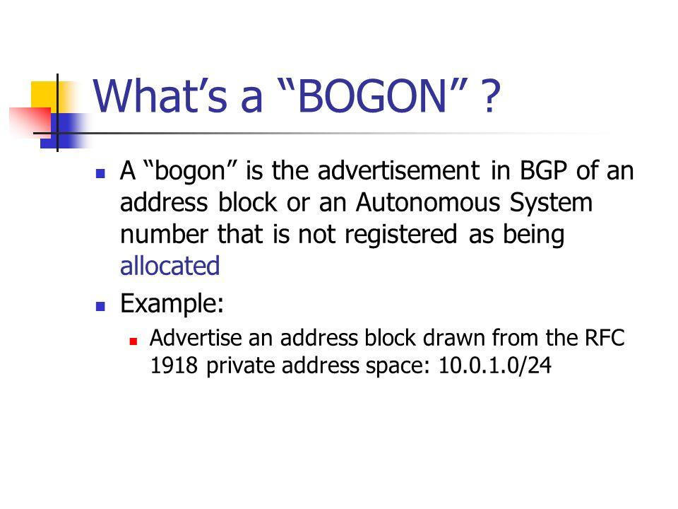 Whats a BOGON .