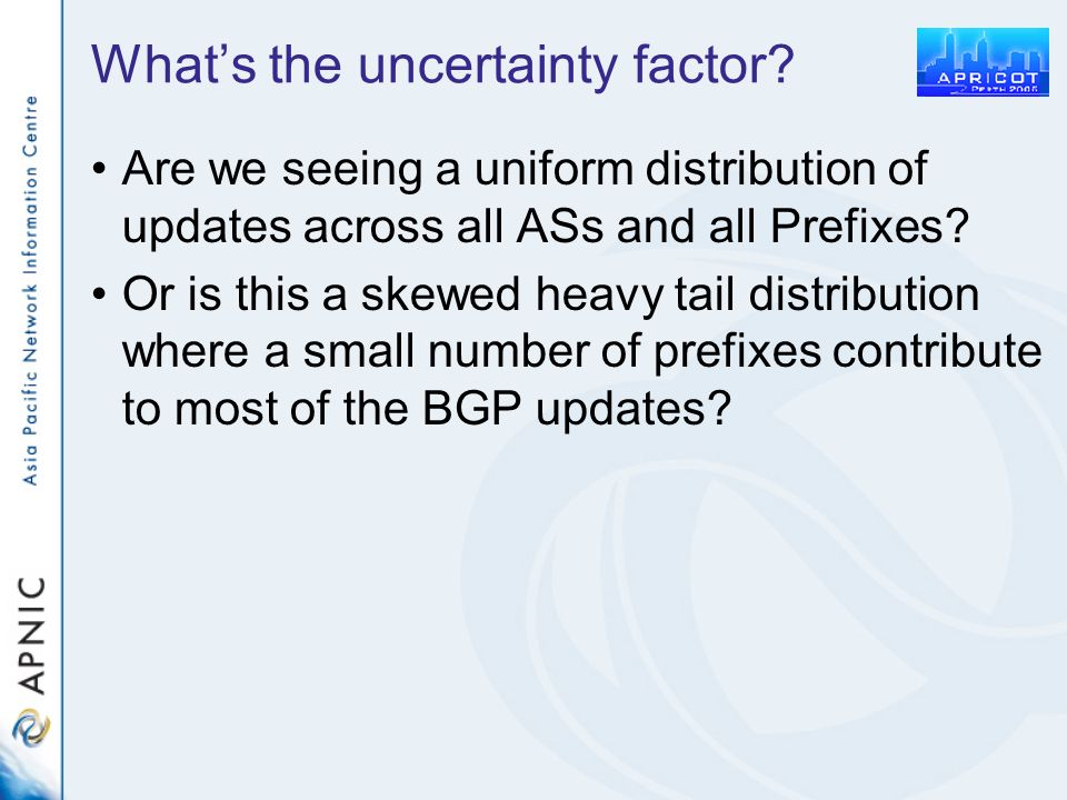 Whats the uncertainty factor.