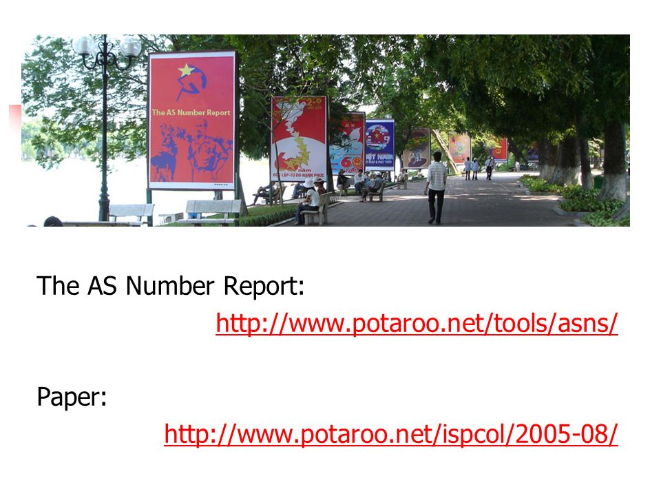 The AS Number Report: http://www.potaroo.net/tools/asns/ Paper: http://www.potaroo.net/ispcol/2005-08/