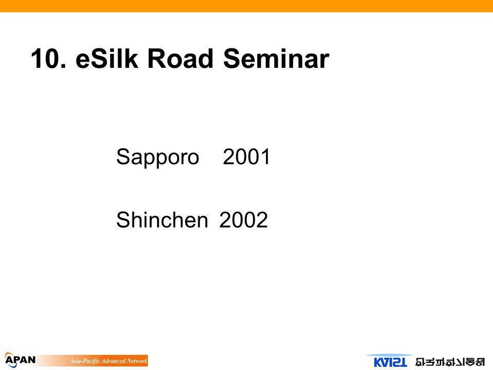 10. eSilk Road Seminar Sapporo 2001 Shinchen 2002