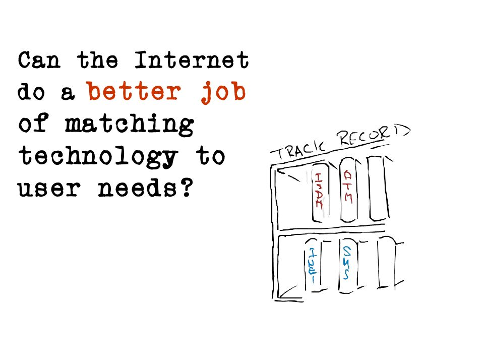 Can the Internet do a better job of matching technology to user needs?