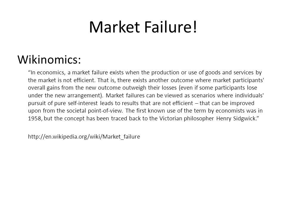 Market Failure.