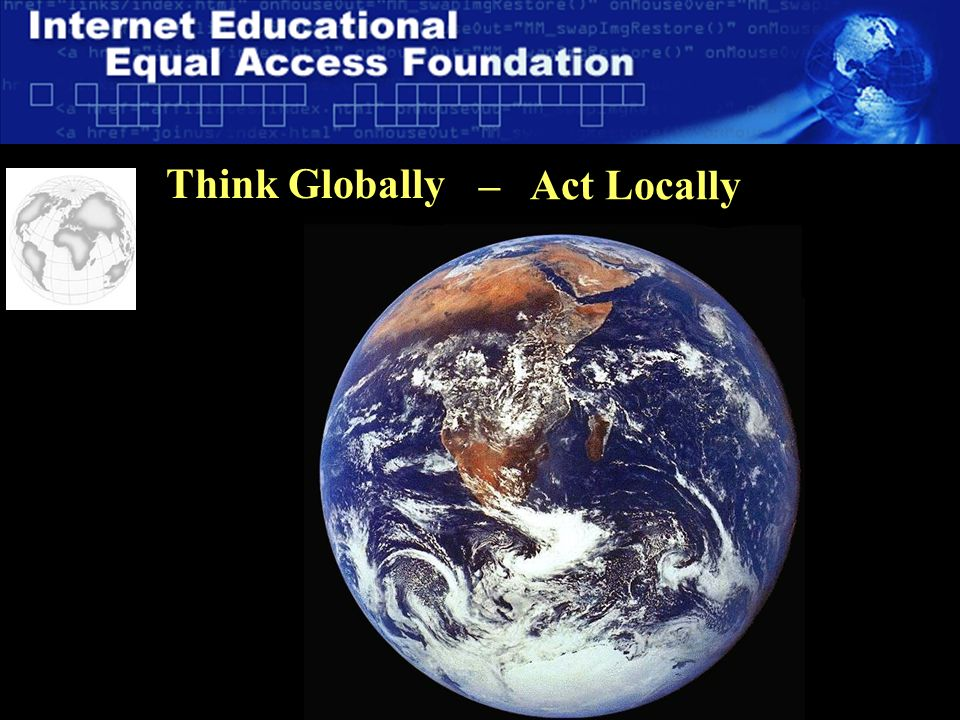 15 Think Globally – Act Locally