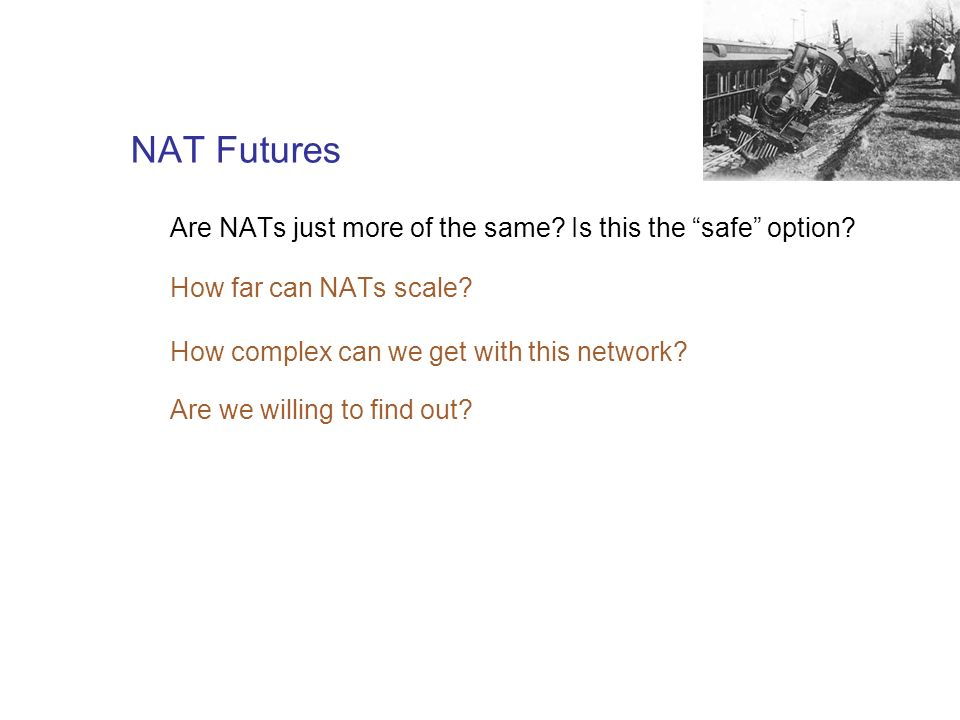 NAT Futures Are NATs just more of the same. Is this the safe option.