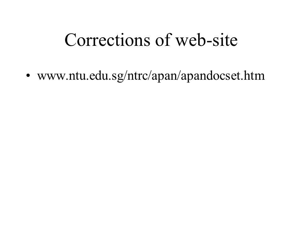 Corrections of web-site