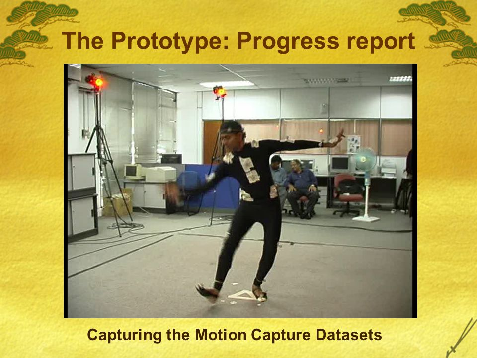 The Prototype: Progress report Capturing the Motion Capture Datasets