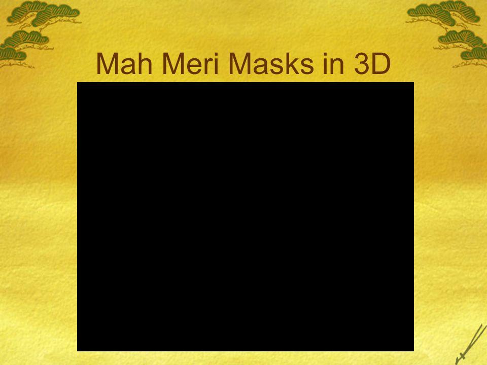 Mah Meri Masks in 3D