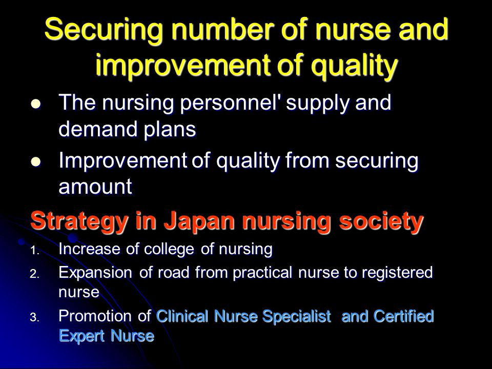 Evaluation of quality of nursing 1.