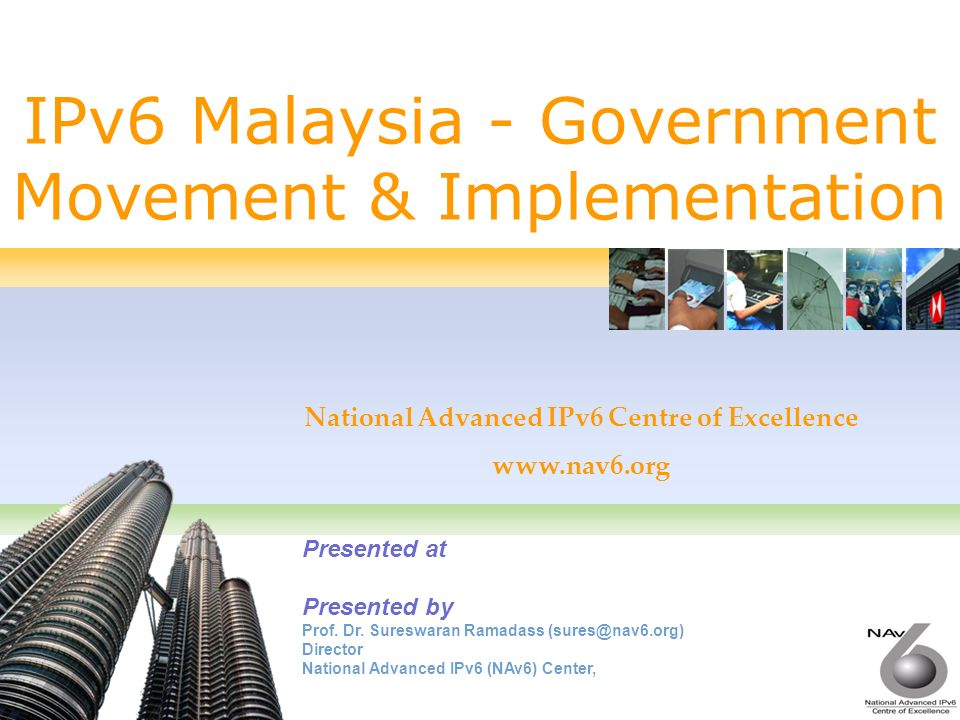 2 Government Initiatives on IPv6 National IPv6 Council The National IPv6 Council was established by MEWC in 2004 Functions: To provide leadership, and strategic planning for IPv6 implementation Members: MEWC, MOF, EPU, MAMPU, MOSTI, MCMC, and ISPs ISPs by 2006 Government by 2008 The country by 2010