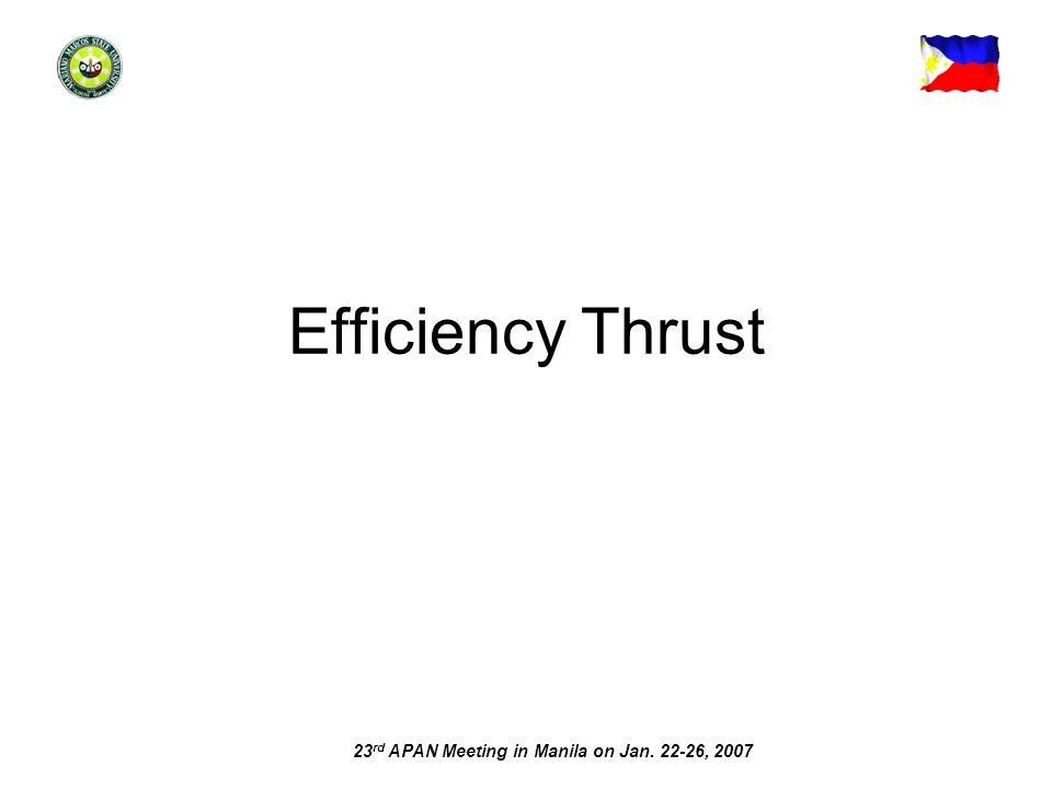 Efficiency Thrust