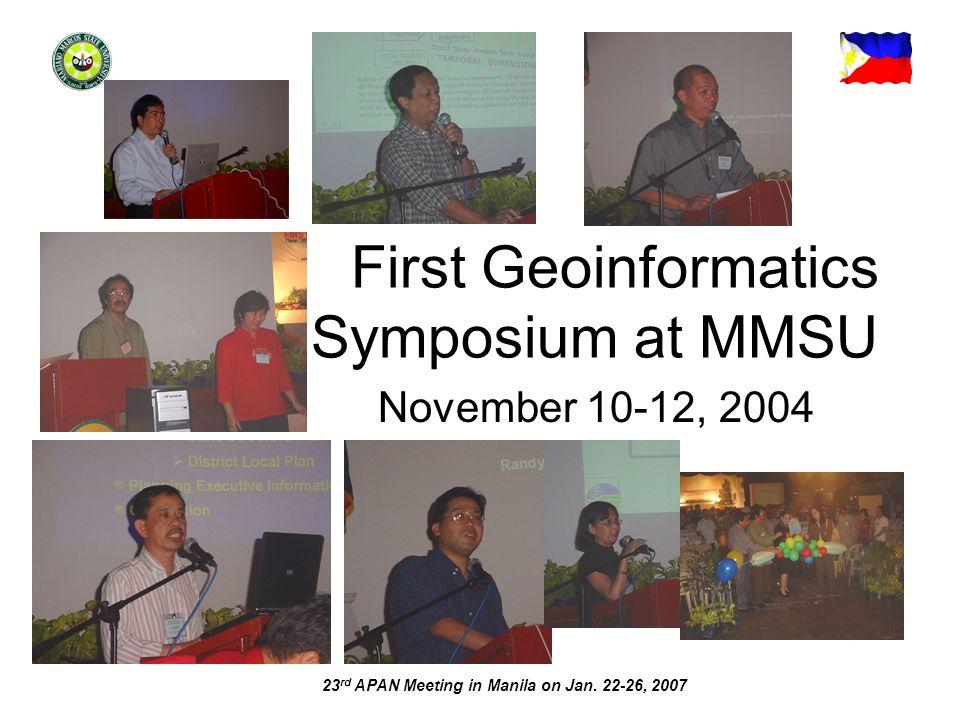 23 rd APAN Meeting in Manila on Jan.