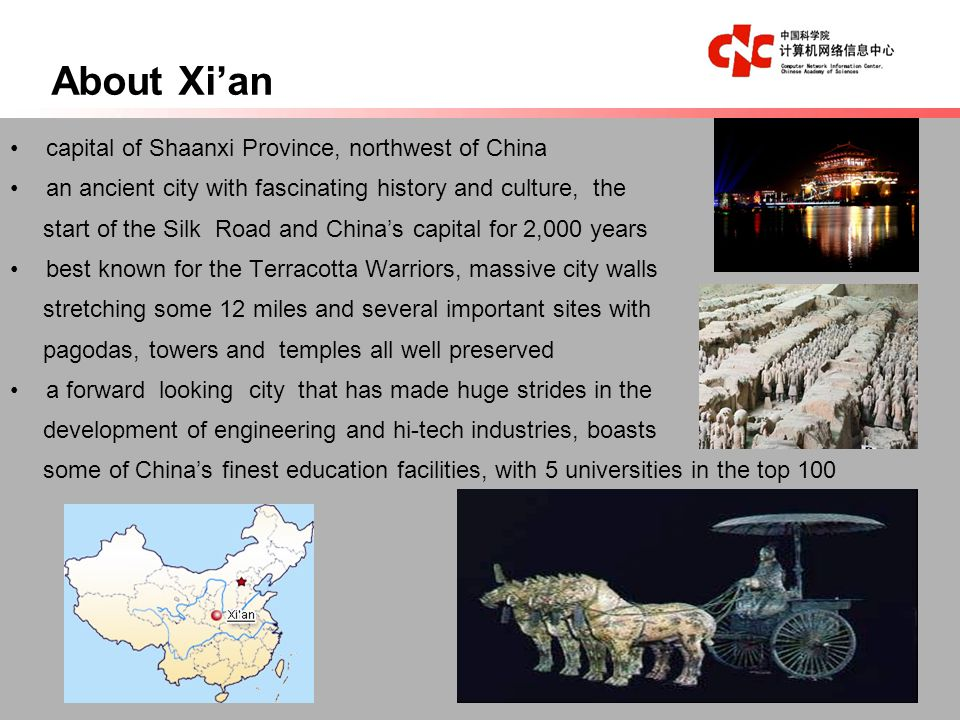 Places of Interests WILD GOOSE PAGODA City Walls of Ming Dynasty Terracotta Warriors Famen Temple Huaqing Palace Mt.