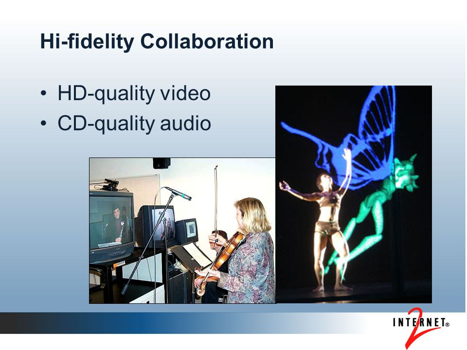 Hi-fidelity Collaboration HD-quality video CD-quality audio