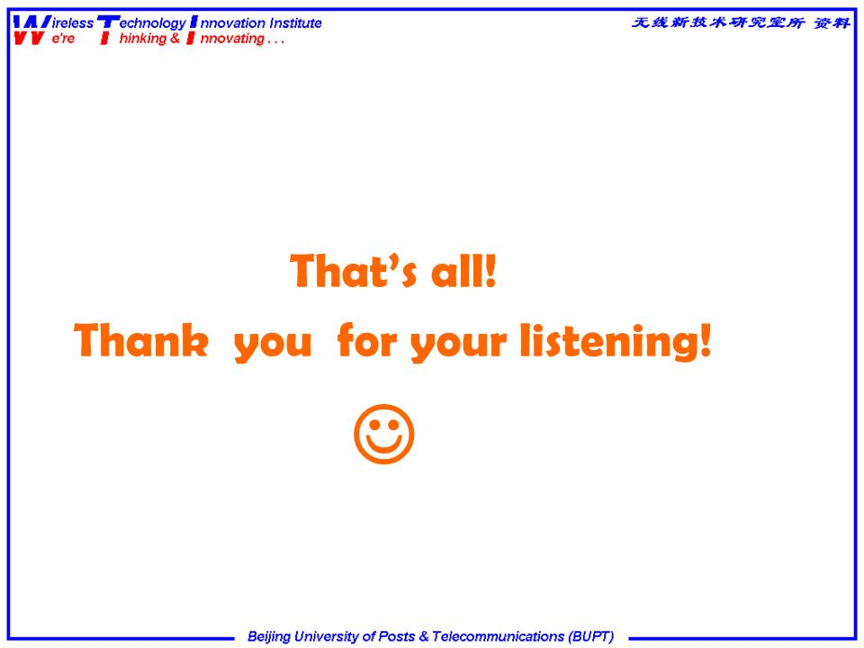 Thats all! Thank you for your listening!