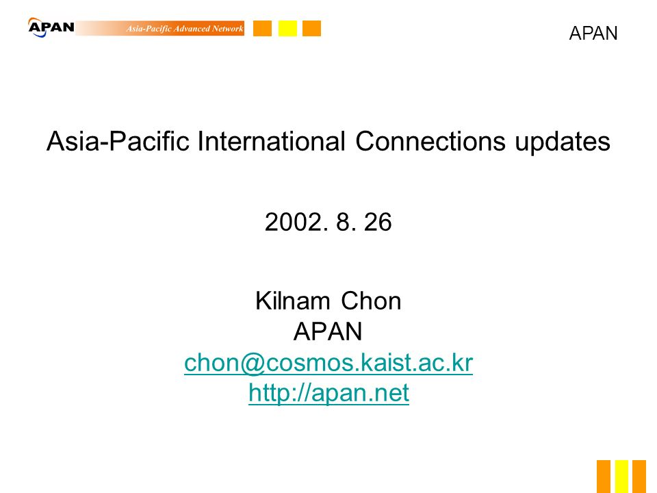 Asia-Pacific International Connections updates 2002.