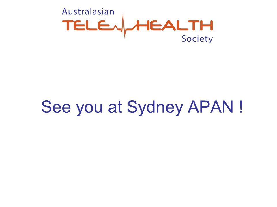 See you at Sydney APAN !