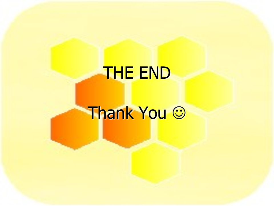 THE END Thank You THE END Thank You