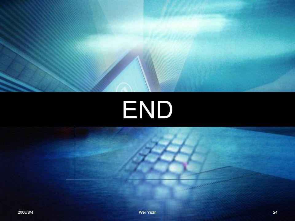 END 2008/8/4Wei Yuan24