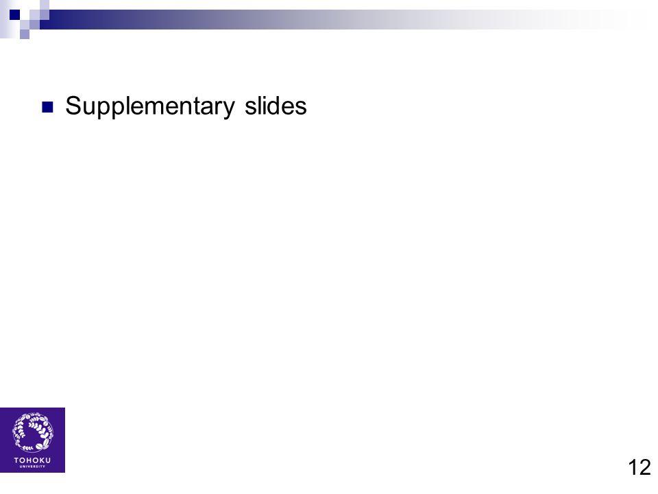 12 Supplementary slides