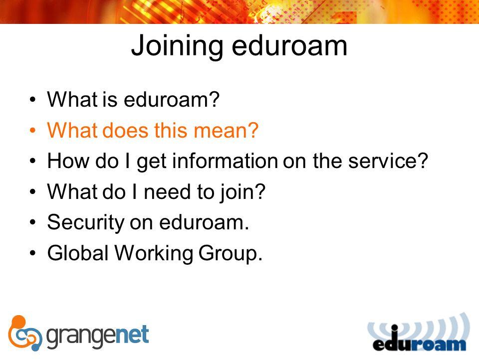 eduroam Links Eduroam AU Site http://www.eduroam.edu.au Eduroam Global Working Group http://www.eduroam.edu.au/gwg-eduroam Global working group email list gwg-eduroam@eduroam.edu.au Email Enquiries enquiries@eduroam.edu.au join@eduroam.au