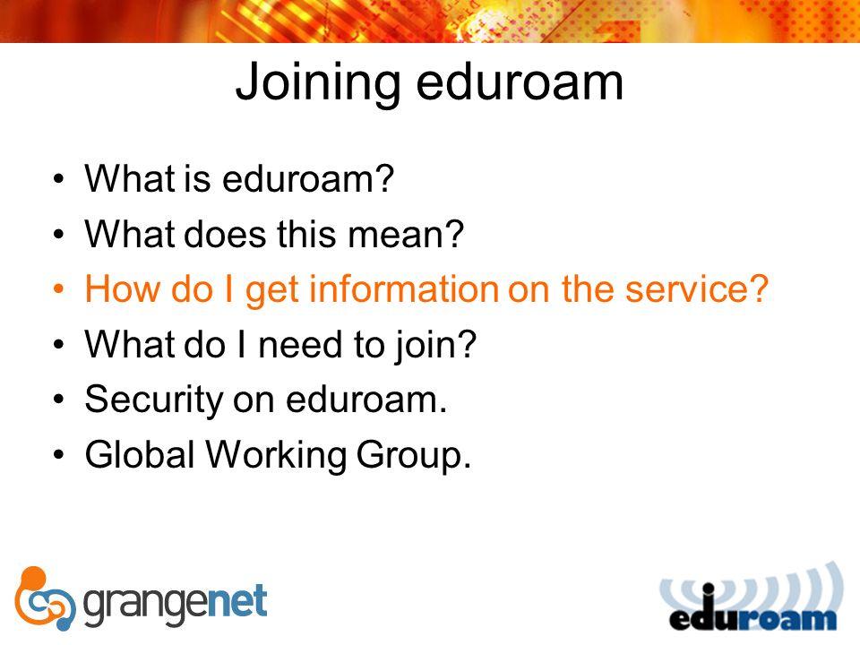 International eduroam portals
