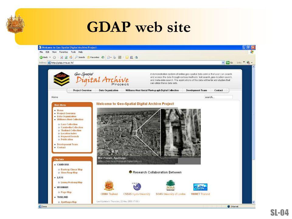 GDAP web site SL-04