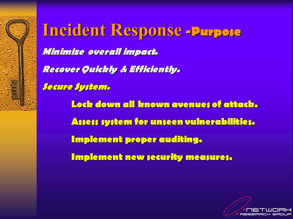 Minimize overall impact. Recover Quickly & Efficiently.