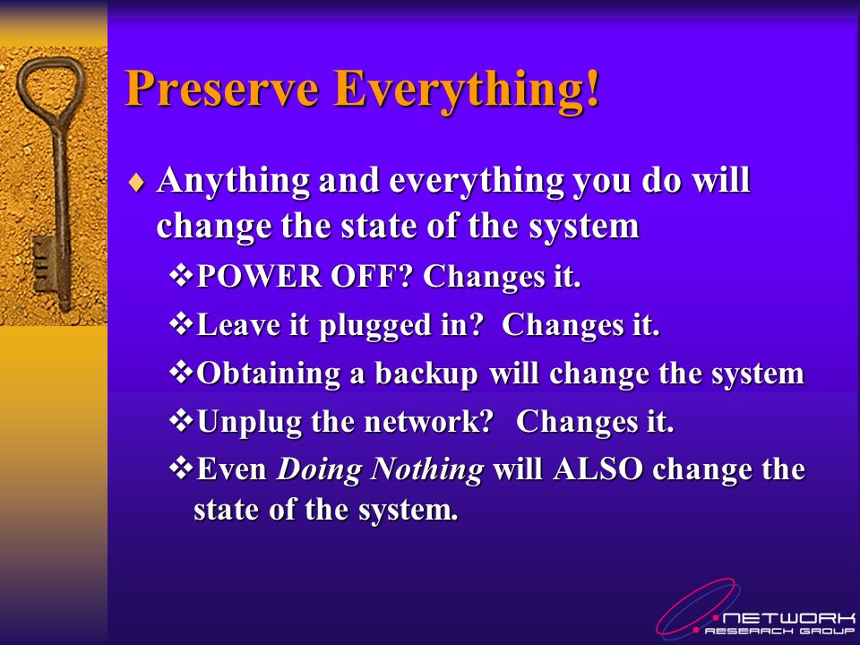 Preserve Everything.