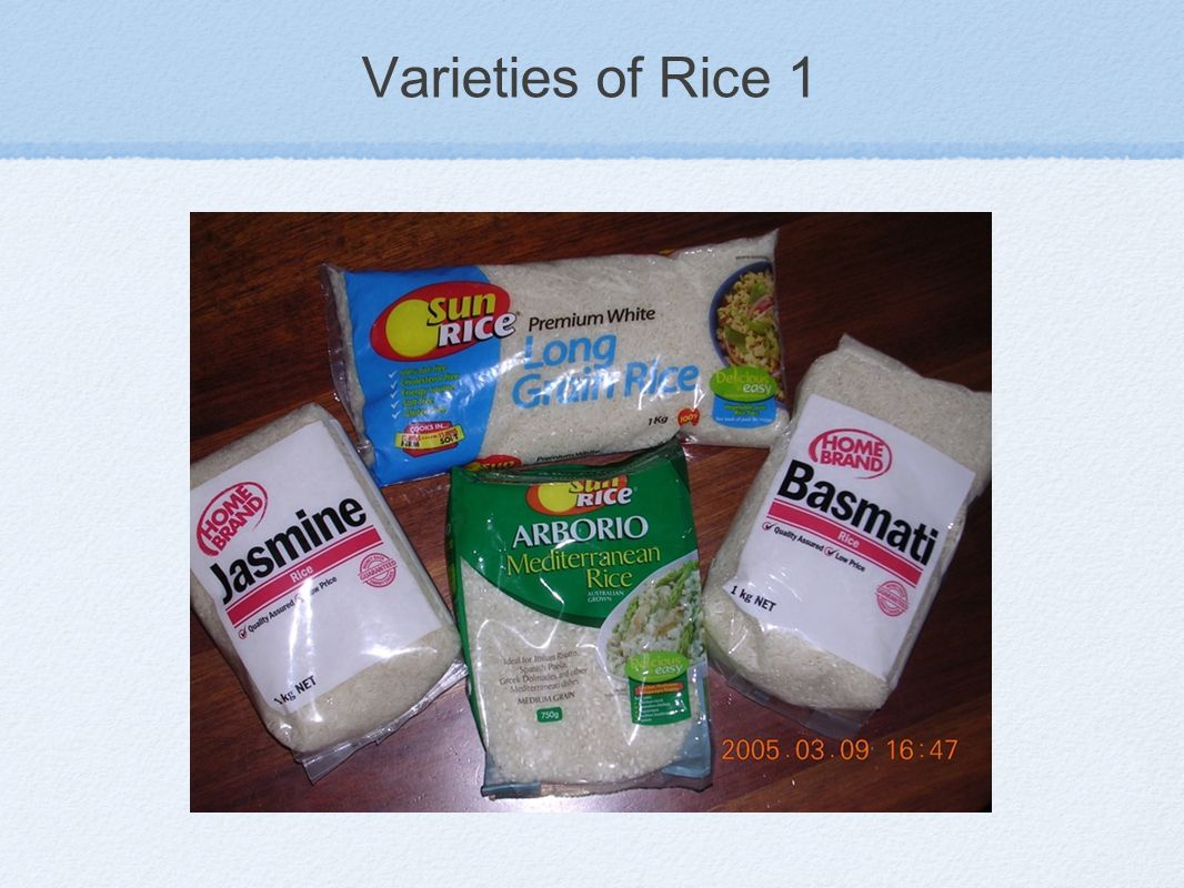 Varieties of Rice 1