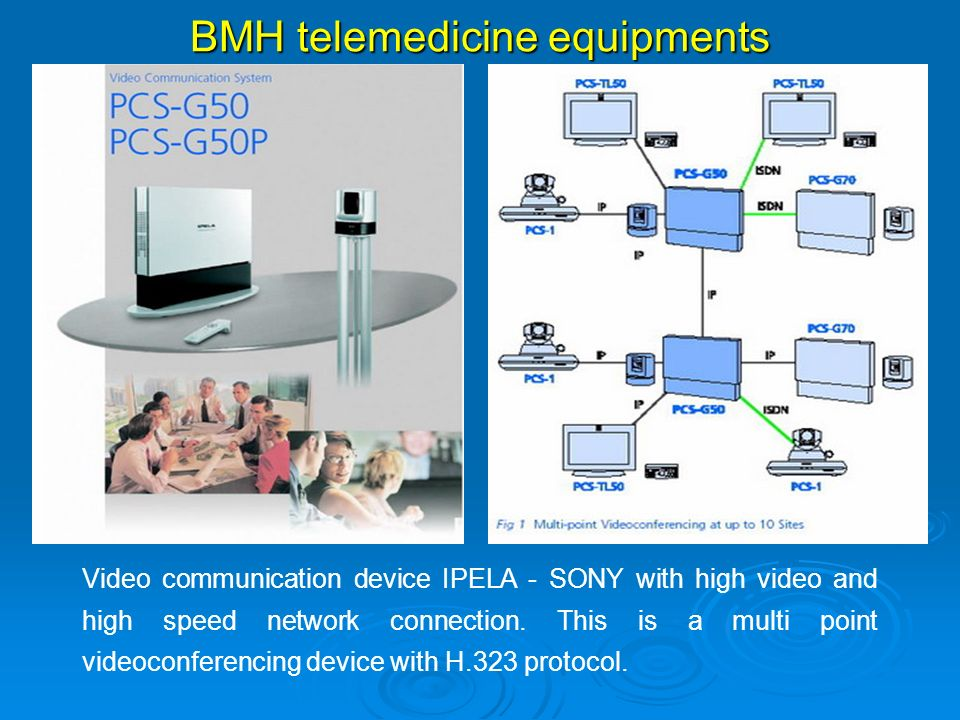 Video communication device IPELA - SONY with high video and high speed network connection. This is a multi point videoconferencing device with H.323 p