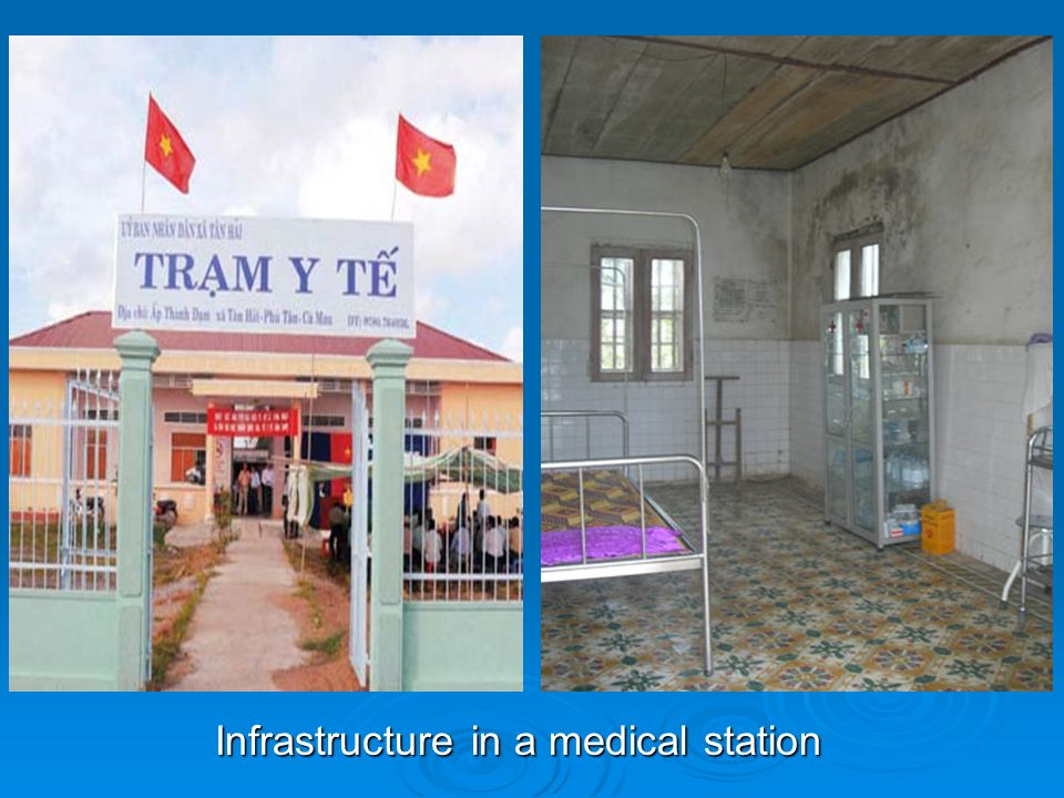 Infrastructure in a medical station