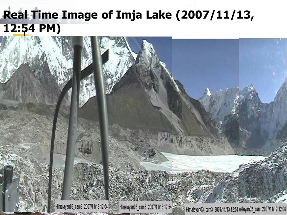 Real Time Image of Imja Lake (2007/11/13, 12:54 PM)