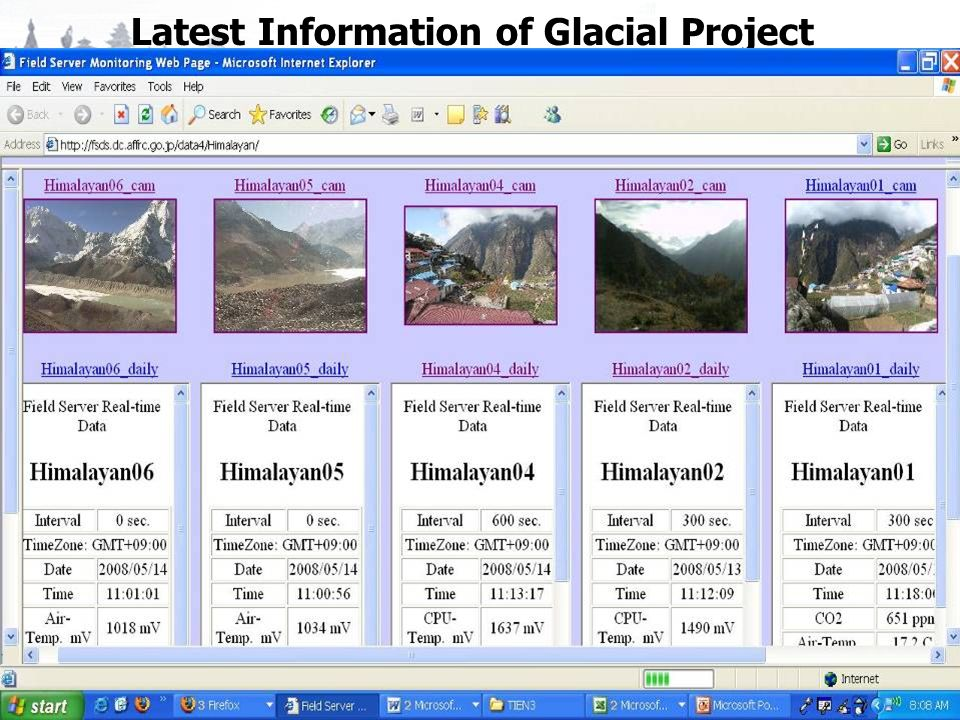 Latest Information of Glacial Project