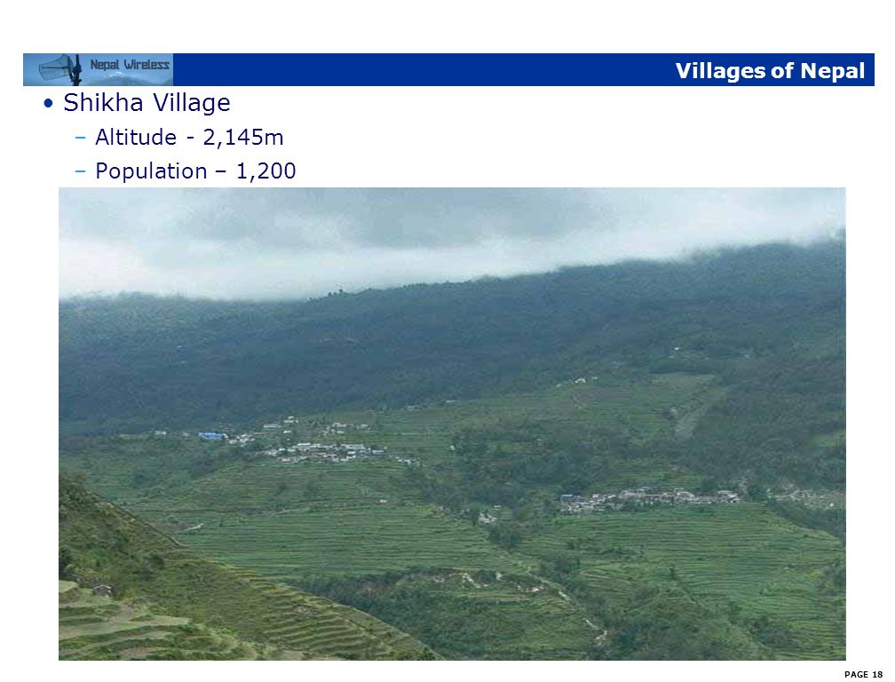 PAGE 17 Villages of Nepal Paudwar Village –Altitude - 2,180m –Population – 2,250