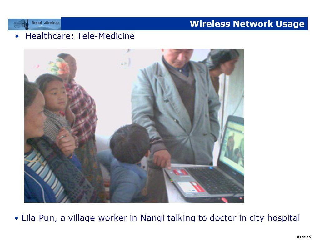PAGE 27 Wireless Network Usage Education: Tele-Teaching