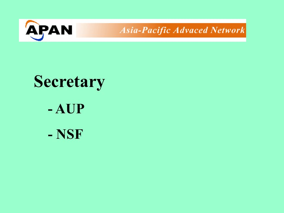 Secretary - AUP - NSF