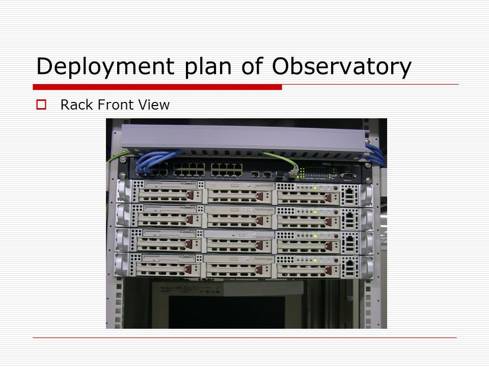 Deployment plan of Observatory Network Layout (TokyoXP)